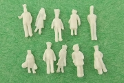 Package of 10 MINI Unpainted Little People