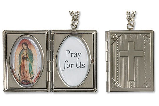 Our Lady of Guadalupe Locket Necklace