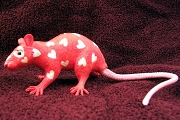 Heart Speckled Love Rat: Red with White Hearts