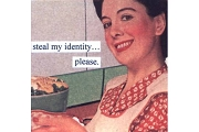 Anne Taintor Magnet - Steal My Identity...Please