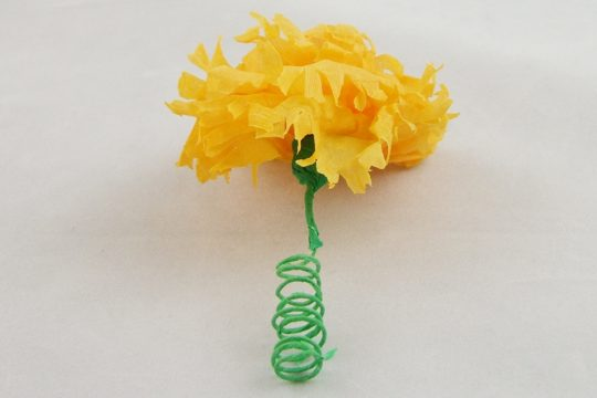 Hand-Made Paper Marigold