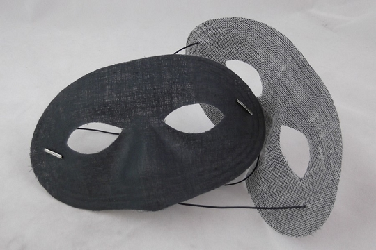Vintage Black Fabric Mask with New Black Elastic
