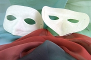 Vintage White Fabric Mask with New White Elastic
