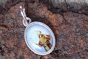 Tiny Colorful Saint Francis of Assisi Medal