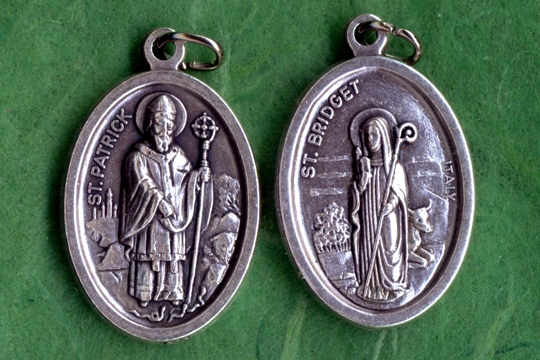 Reversible St Patrick St Bridget Medal St Brigid