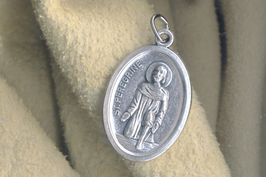 St Peregrine Medal - Patron Saint of Cancer Sufferers and Cancer Survivors