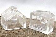 Clear Acrylic Plastic Mini House with Chimney