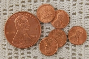 Realistic Looking Real Metal Mini Penny