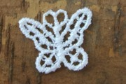 Sweet Little White Lace Butterfly Motif - Perfect as Faerie or Angel Wings