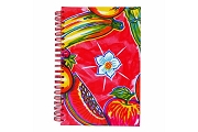 Spiral Bound Notebook - Fruits Design Oil Cloth