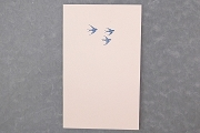 Letter Press Fine Note Card: Flying Bluebirds