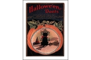 Hand Glittered Note Card from Barbara Shriber: Hallowe'en Don'ts