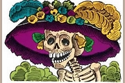 La Catrina Color Note Card