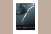 Greeting Card: Lightning (Take a deep breath...)