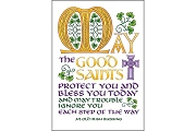 May the Good Saints Protect You... Note Card