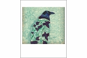 Raven Wrapped in Ancestral Kimono Note Card