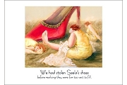 Seela's Shoes Notecard by Susan Mrosek