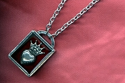 Crowned Heart Story Box Necklace