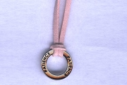 Patience Circle Necklace on Pink Suede