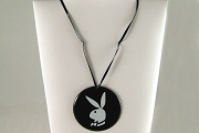 Vintage Plastic Playboy Bunny Necklace