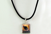 Sterling Silver Raven's Loot Necklace on Velvet Rope