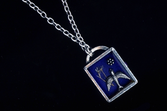 Silver Bird Story Box Necklace