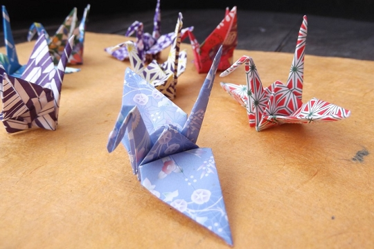Small Origami Crane in Assorted Colors and Patterns