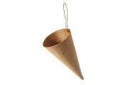 Paper Mache Cone Ornament with Golden Hanger