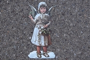 Extra Large Die Cut Angel Ornament with Golden Accents