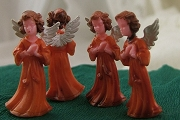 Little Vintage Hand-Tinted Praying Angel Ornament