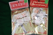 Vintage Christmas Angels Ornaments Set