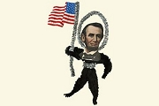 Old Fashioned Chenille Ornament: Abraham Lincoln