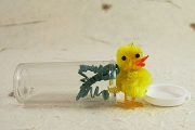 Chenille Chick in a Bottle - Handmade
