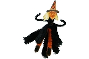 Witch Old Fashioned Chenille Ornament