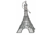 Silver Wire Eiffel Tower Ornament