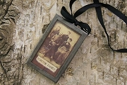 Vintage Look Collage Ornament (or Pin or Pendant) - Forever Family