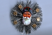 Vintage Scrap Santa & Tinsel Ornament