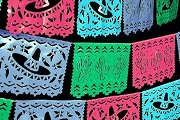 Extra Large PLASTIC Papel Picado - 100 ft Fiesta Colors