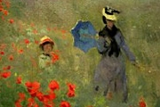 Art Postcard - 3d Lenticular - Claude Monet's The Poppy Field