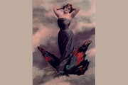 Art Postcard - 3d Lenticular: Metamorphosis (Woman in Butterfly)