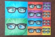 Art Postcard - 3D Lenticular Stickers - Glasses