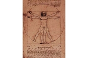 Art Postcard - 3D Lenticular - Leonardo daVinci's Vitruvian Man (The Symmetry of Man)
