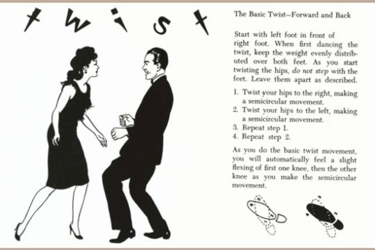 The Basic Twist - Forward and Back Kitschy Art Postcard