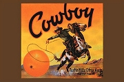 Art Postcard - Cowboy Oranges Crate Label