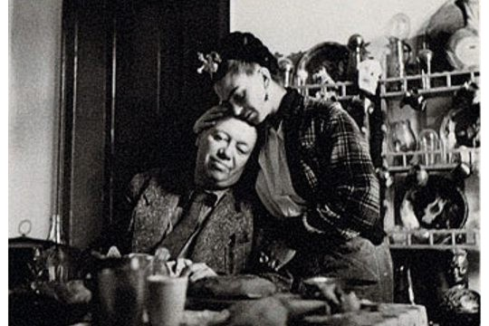 Diego Rivera and Frida Kahlo, Coyoacan, Mexico, 1941 Art Postcard