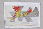 Art Postcard - Dymaxion by R Buckminster Fuller and Shoji Sadao Cartographers