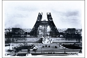 Art Postcard - Contstruction of the Eiffel Tower, 1888 by Pierre Petit