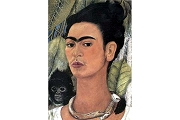 Frida Kahlo - (Autorretrato con Changuito Y Collar) Self-Portrait with a LIttle Monkey and Collar - Art Postcard