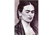 Art Postcard - Frida Kahlo Portrait in Striped Shawl, 1936