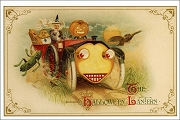Art Postcard - Hallowe'en Roadster